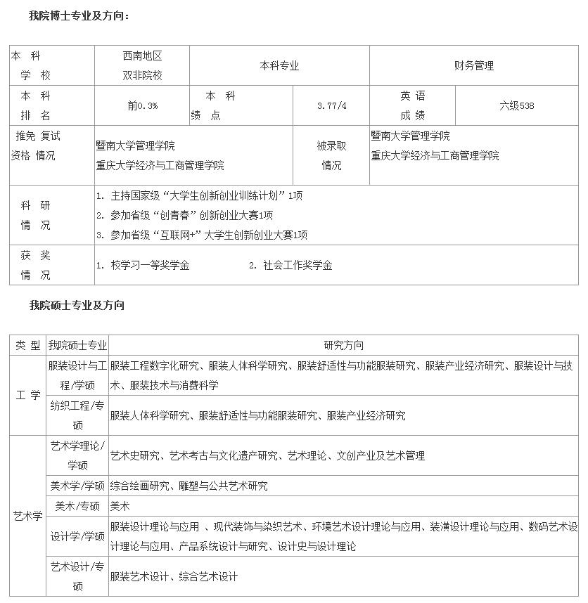 东华大学2019保研夏令营通知