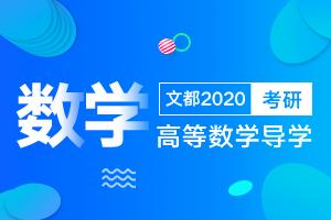 文都2020考研数学高等数学导学(一)