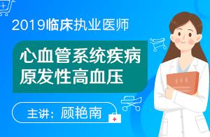 2019临床执业医师精讲强化课程心血管系统疾病原发性高血压