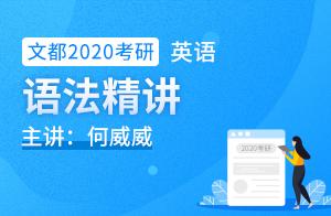 何威威2020考研英语学习视频语法精讲